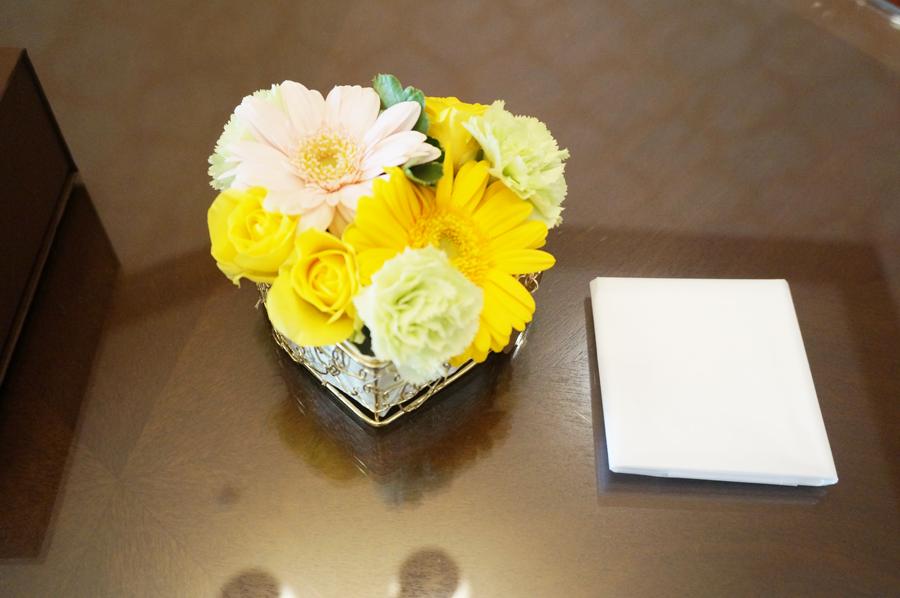 ミラコスタスイートのプレゼントのお花