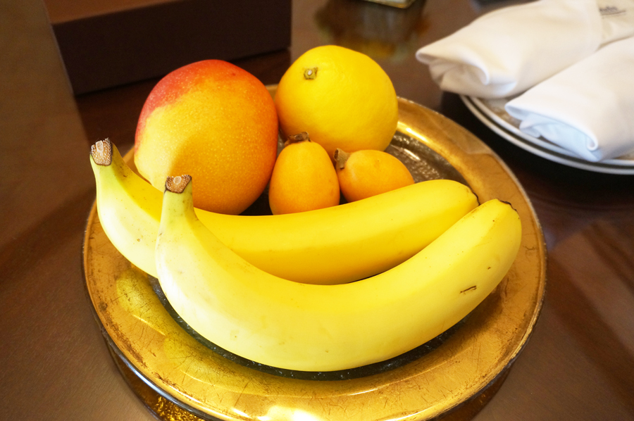 ミラコスタスイートのフルーツ