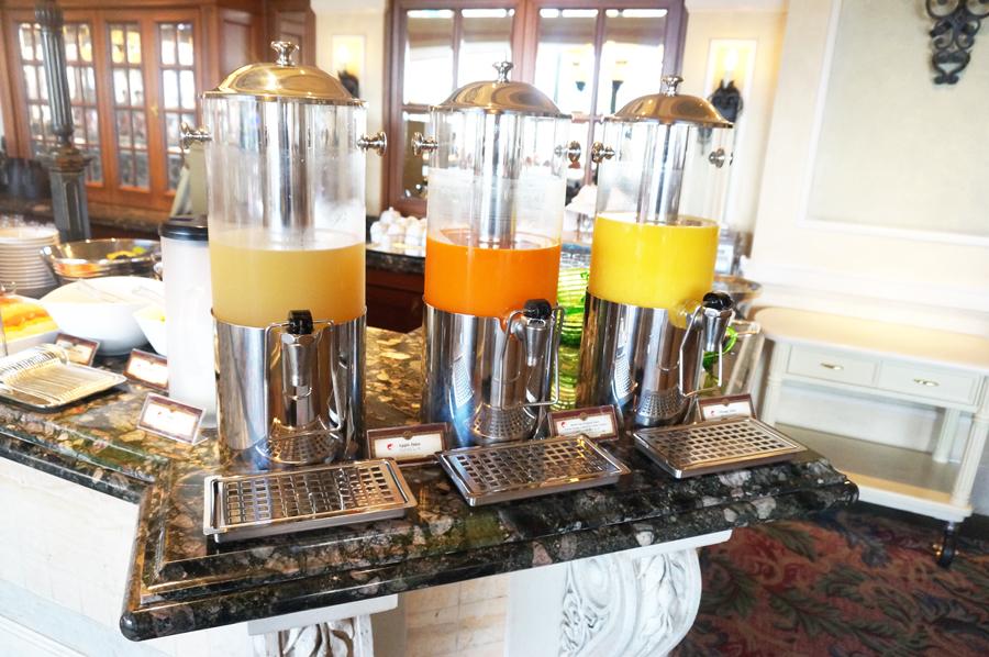 ベッラヴィスタラウンジで朝食 ブレックファストブッフェのメニュー