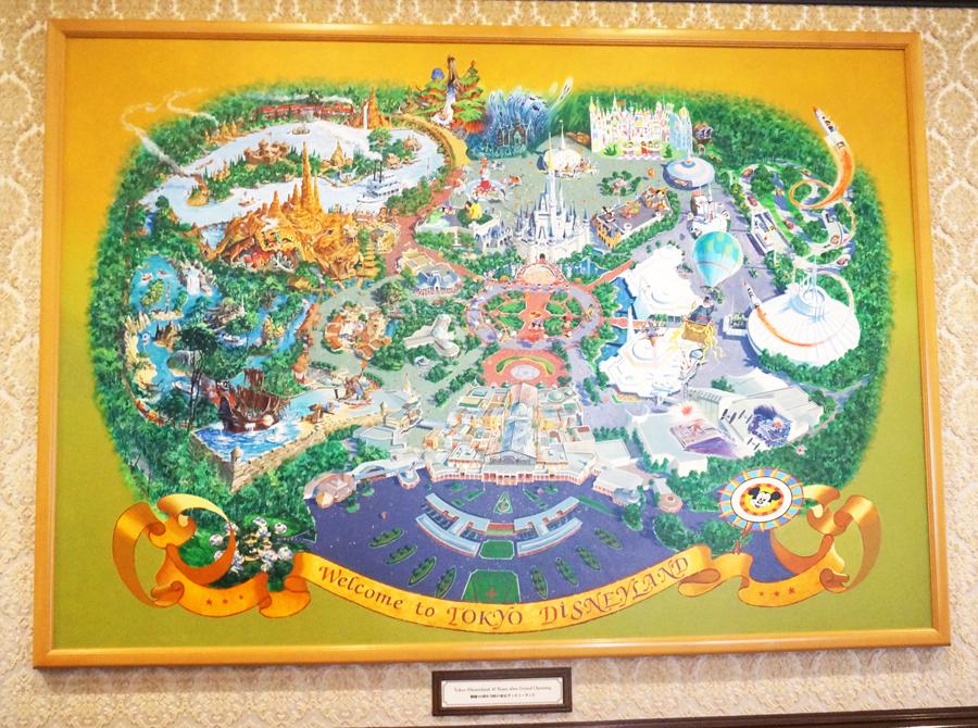 ディズニーランド開園当時のマップ