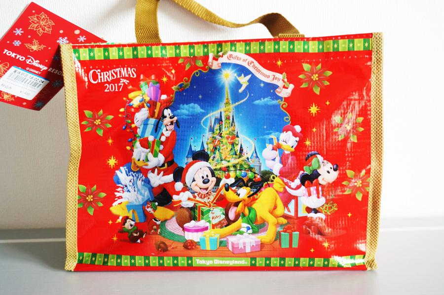 ディズニークリスマスのミニバッグ付きチョコクランチ