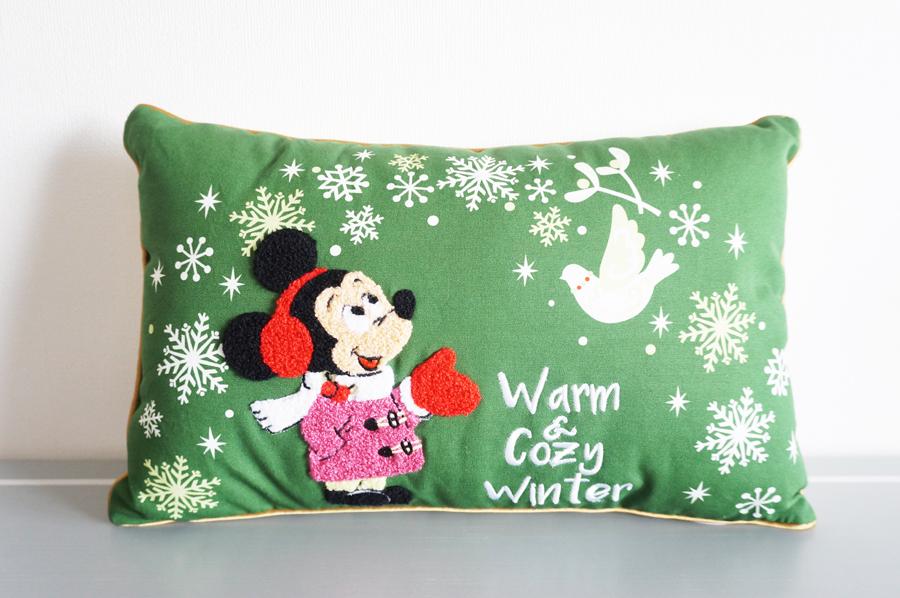 ディズニークリスマス2017Warm&Cozy Winterのグッズ クッション