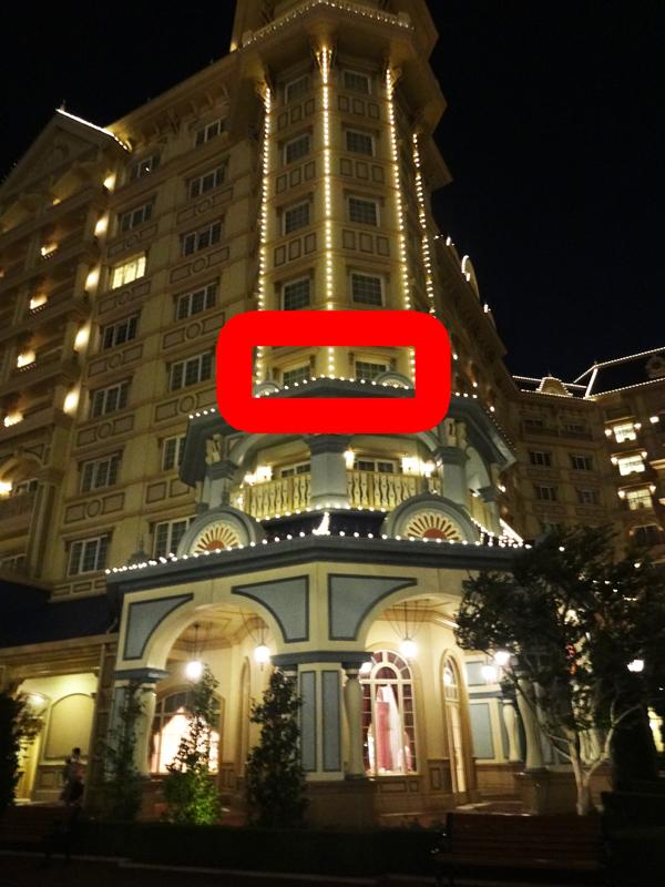 ディズニーランドホテルコンシェルジュタレットルーム4階の位置