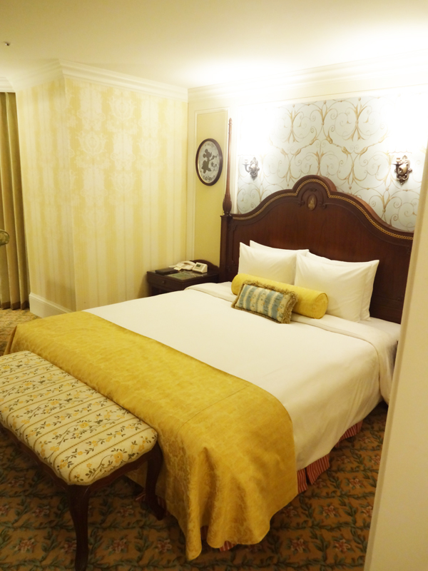 ディズニーランドホテルコンシェルジュタレットルーム4階ダブルのお部屋