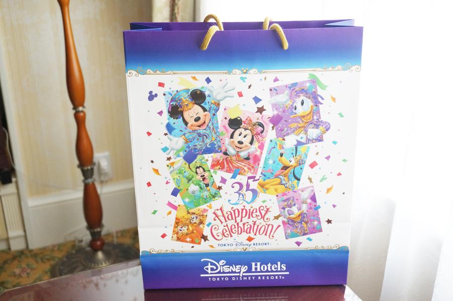 ディズニーランドホテル35周年のペーパーバッグ