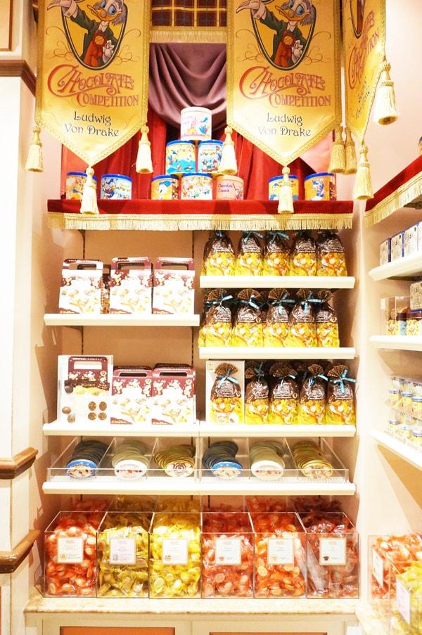 35周年限定のドナルドたちのチョコレートクランチのお店「DUCK FAMILY CHOCOLATE COMPETITION」