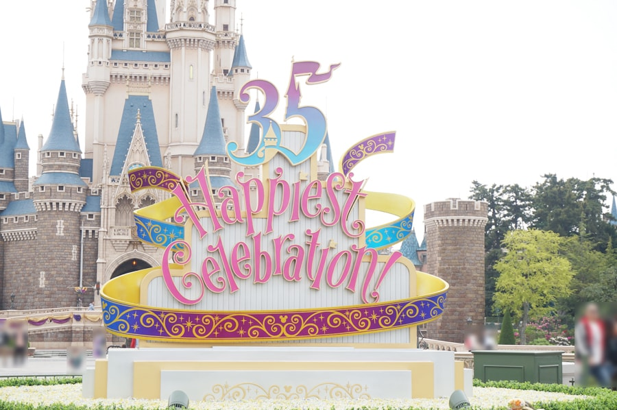 ディズニーランド35周年のデコレーション