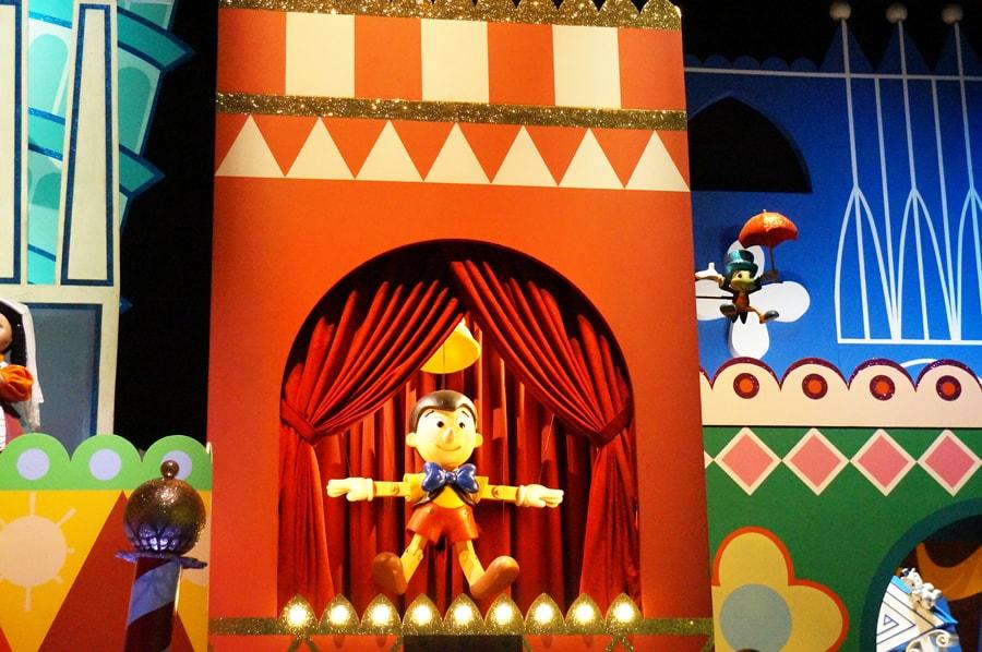 イッツアスモールワールドのピノキオ