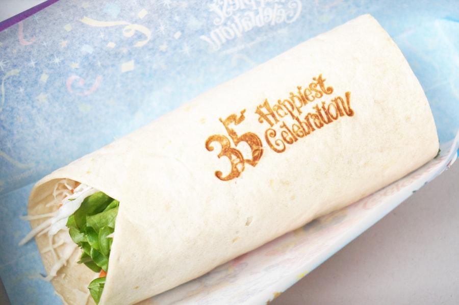 35周年の焼肉&エッグラップサンド