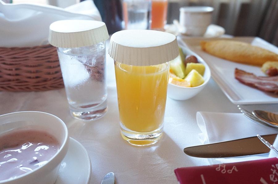 ミラコスタのルームサービスの朝食