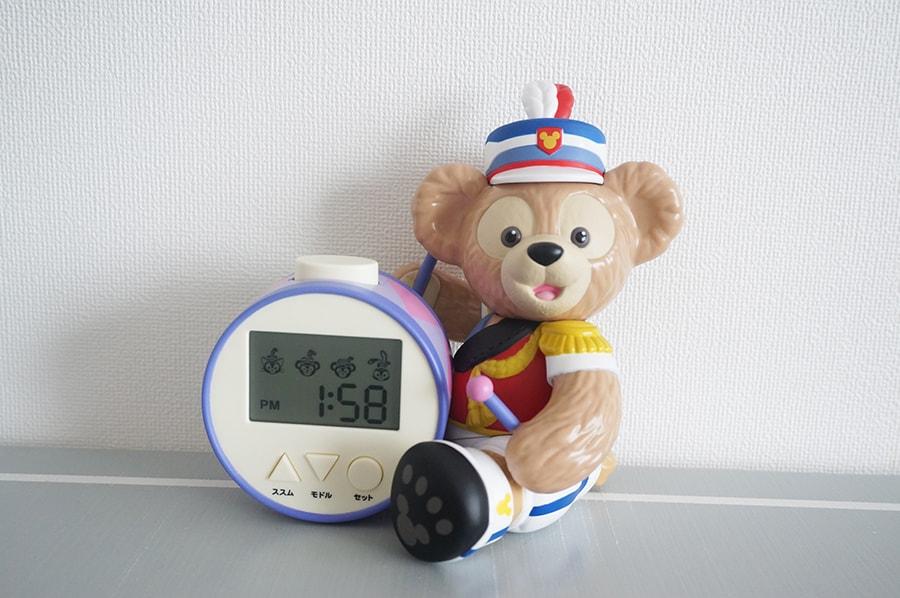 ダッフィーの目覚まし時計