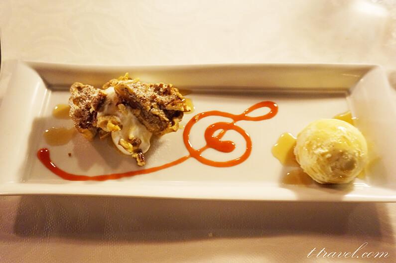 ブルーバイユーレストランのグランドメニューピーカンナッツパイ