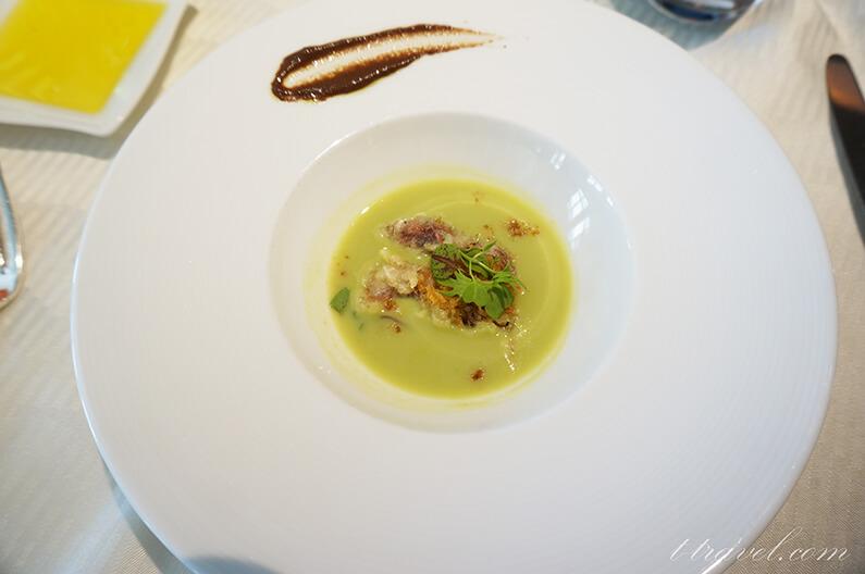 オチェーアノランチコースのメニュー、スープ
