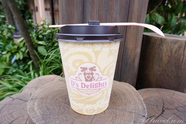 ディーズディライトのほうじ茶ミルク。求肥&フレーク入り。
