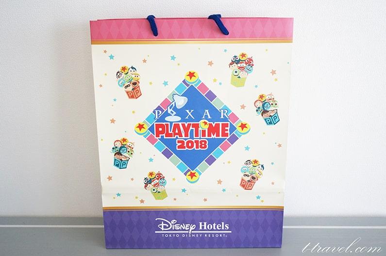 ピクサープレイタイムのディズニーホテルのペーパーバッグ