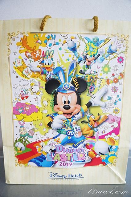 ディズニーイースター2019のホテルのポストカード&ペーパーバッグ