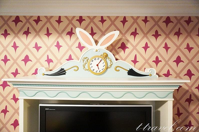 ディズニーランドホテルのアリスルームを紹介。5311号室。