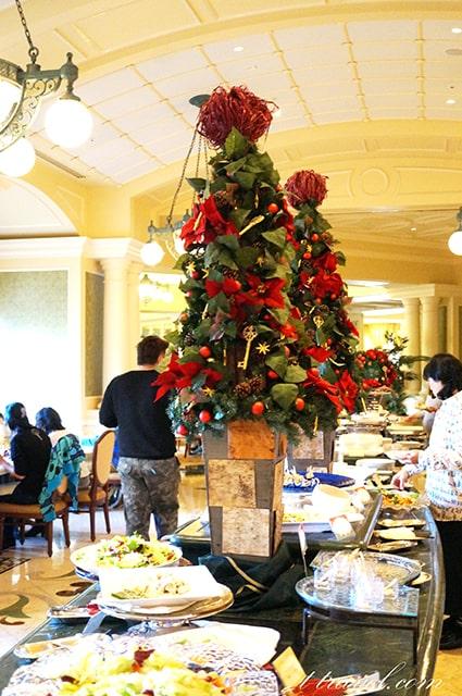 シャーウッドガーデンレストラン2019のクリスマスランチブッフェ