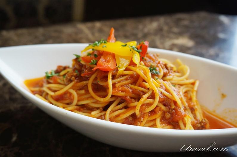 ドリーマーズラウンジのスパゲッティ ボロネーゼ